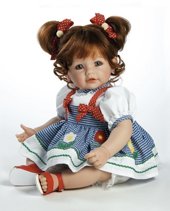 Picture of Daisy Delight - Dk Red hair, Blue Eyes