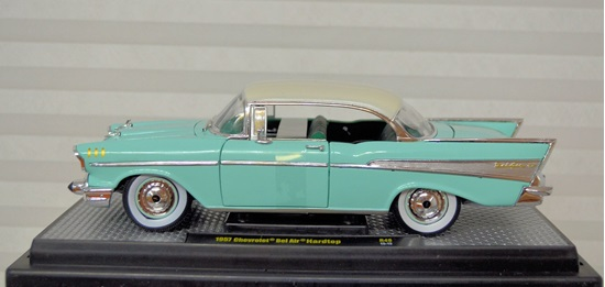 Picture of 1957 Chevrolet Bel-Air India Ivory over Larksspur Blue