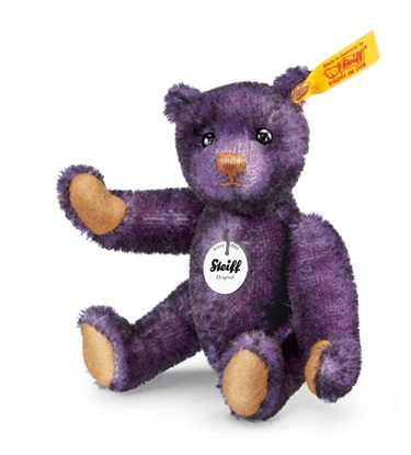 Picture of Small Classic Teddy Bear Aubergine Tipped