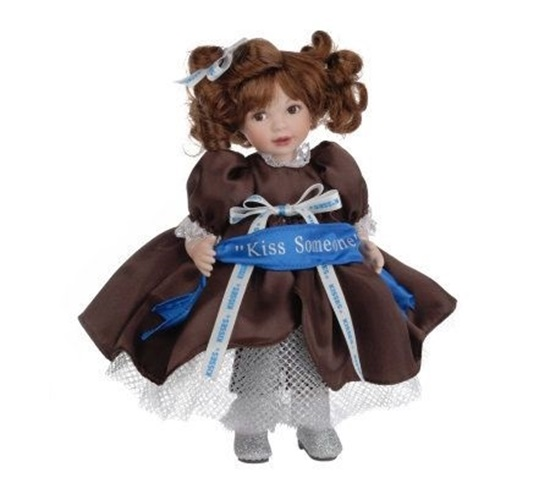 """Picture of """"100 Years of Kisses"""" Kiss Someone Keepsake Doll"""