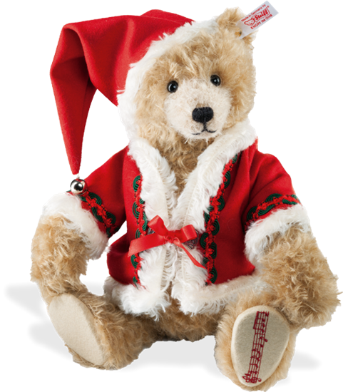 "Picture of Musical Christmas Teddy Bear - ""Cinnamon"""