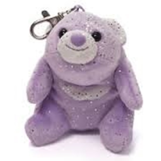 Picture of Snuffles Glitter Backpack Clip - Purple