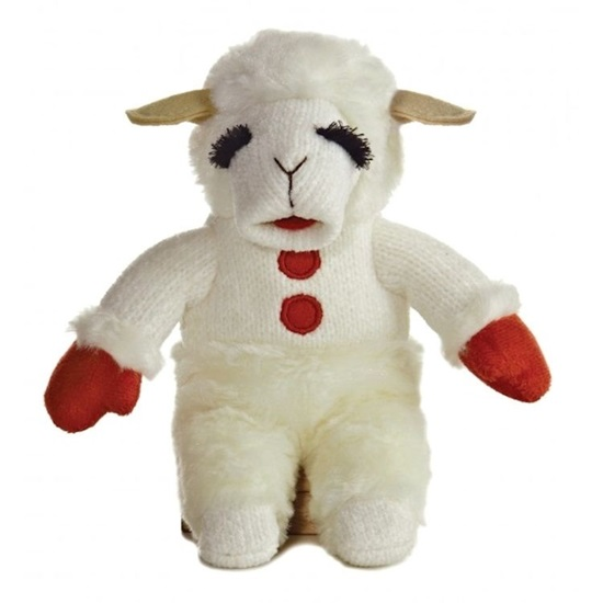 Picture of Lambchop Beanbag with Red Mittens