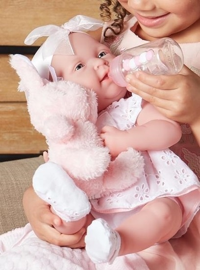 Picture of La Newborn - Real Girl Pink Bunny Gift Set