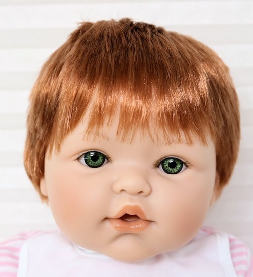 Picture of Magic Baby 2-3 - Red Hair, Green Eyes in Purple/White Onsie