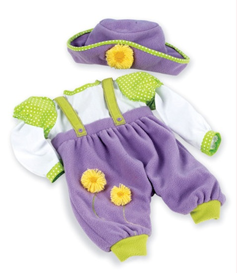 Picture of Dainty Daffodils Romper and Hat - Lee Middleton - Fits 19-22 inch dolls