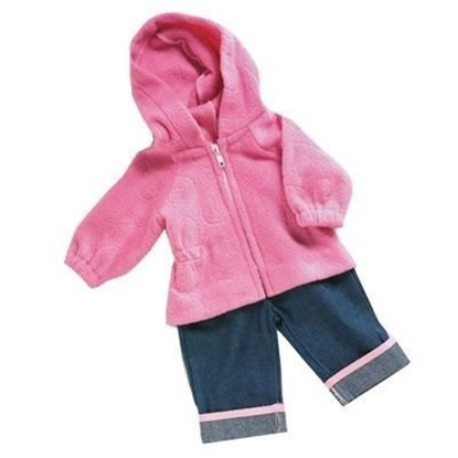 Picture of Pink Fleece & Jeans outfit - fits up to 22 inches