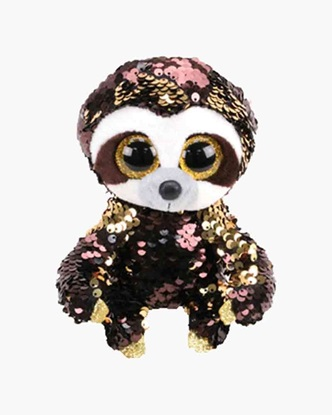 "Picture of ""Dangler"" the Sloth - Flippables - Medium Sequin Plush - New in 2019"