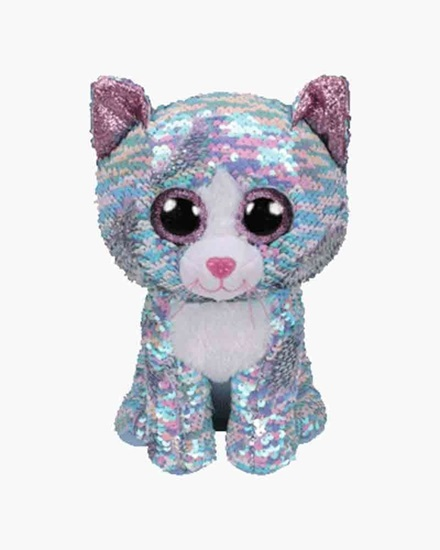 "Picture of ""Whimsy "" the Cat - Flippables - Medium Sequin Plush - New in 2019"