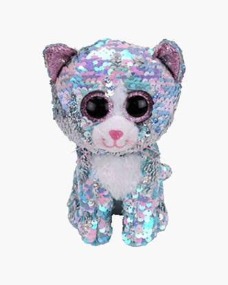 """Picture of """"Whimsy """" the Cat - Flippables - Small Sequin Plush - New in 2019"""