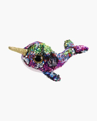 "Picture of ""Calypso"" the Narwahl- Flippables - Small Sequin Plush - New in 2019"