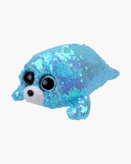 "Picture of ""Waves"" the Seal - Flippables - Small Sequin Plush - New in 2019"