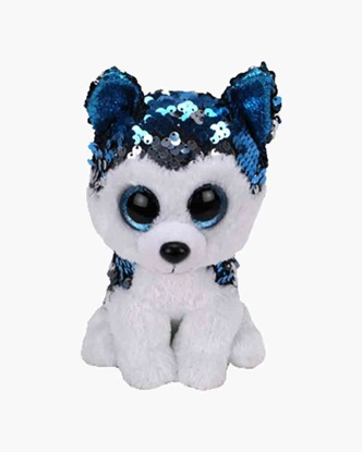 "Picture of ""Slush"" the Husky - Flippables - Small Sequin Plush - New in 2019"