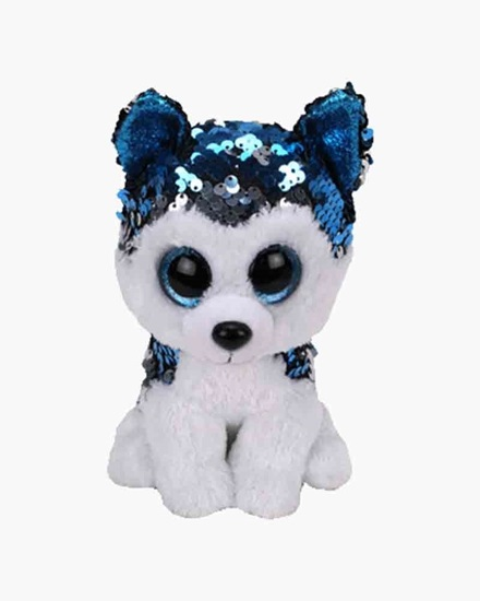 """Picture of """"Slush"""" the Husky - Flippables - Small Sequin Plush - New in 2019"""