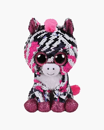 "Picture of ""Zoey"" the Zebra -  Flippables - Small  Sequin Plush - New in 2019"