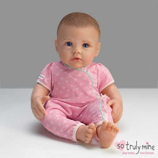 Picture of So Truly Mine Baby - Dark Brown Hair, Blue Eyes - Cloth Body