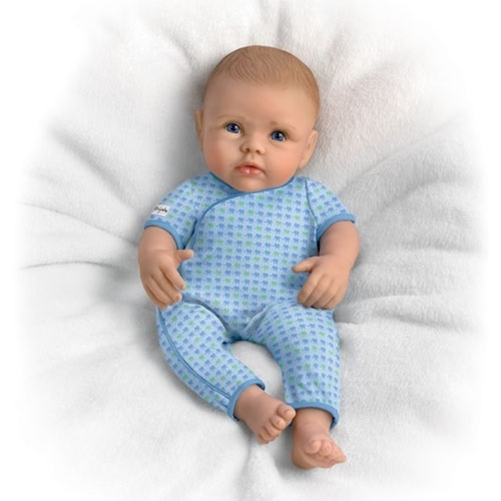 Picture of So Truly Mine Baby - Boy -Light Brown Hair, Blue Eyes - Cloth Body