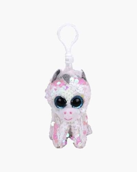 """Picture of """"Diamond"""" the Unicorn - Flippables - Sequin Plush Key Rings - New in 2019"""