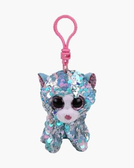 "Picture of ""Whimsy"" the Cat- Flippables - Sequin Plush Key Rings - New in 2019"