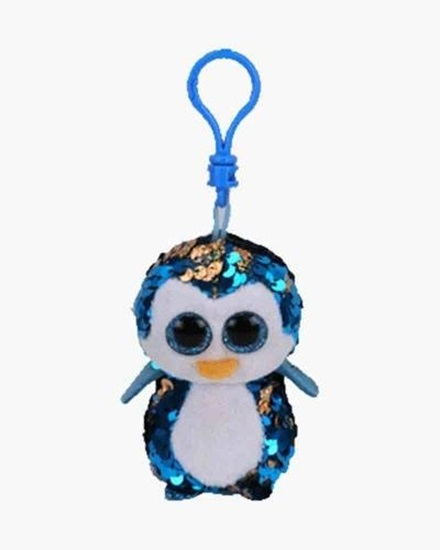 "Picture of ""Payton"" the Penguin- Flippables - Sequin Plush Key Rings - New in 2019"