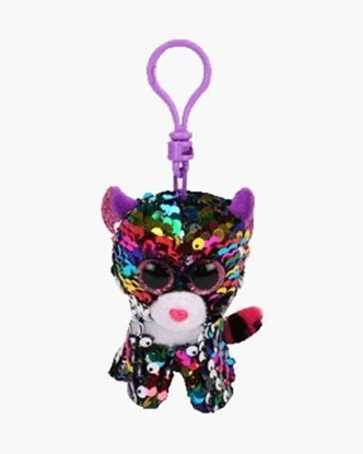 "Picture of ""Dottie"" the Leopard- Flippables - Sequin Plush Key Rings - New in 2019"