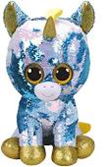 "Picture of ""Dazzle"" the Unicorn - Flippables - Large Sequin Plush - New in 2019"
