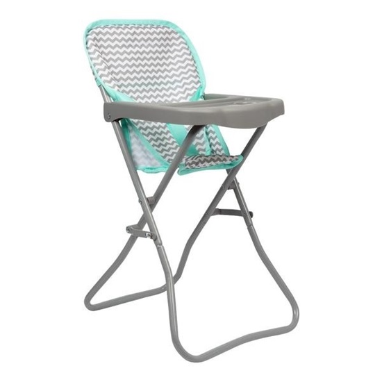 """Picture of Zig Zag High Chair -  Fits up to 16 """" Dolls - New in 2019"""