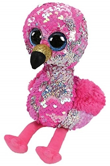 """Picture of """"Pinky"""" The Flamingo - Flippables - Large Sequin Plush - New in 2019"""