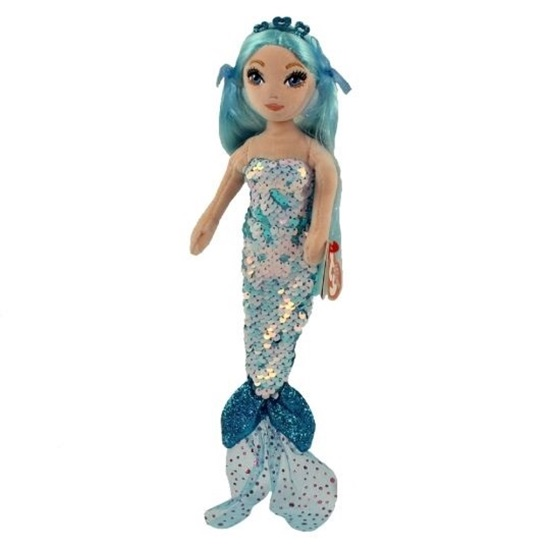"""Picture of Sea Sequins Plush Mermaid - """"Indigo"""" - 10 inches"""