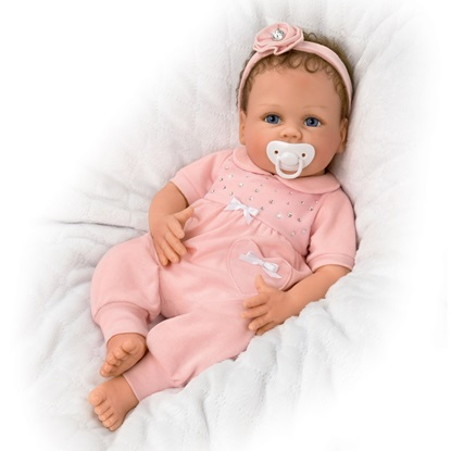 Picture of Cooing Chloe - Soft Silicone - Cloth Body FREE NEXT DAY SHIPPIING