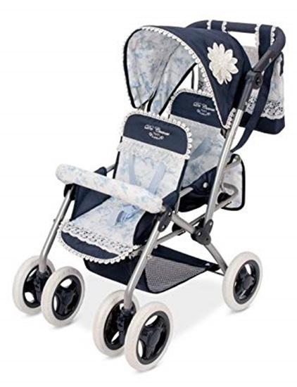 Picture of De Cuevas Twin Stroller - Blue