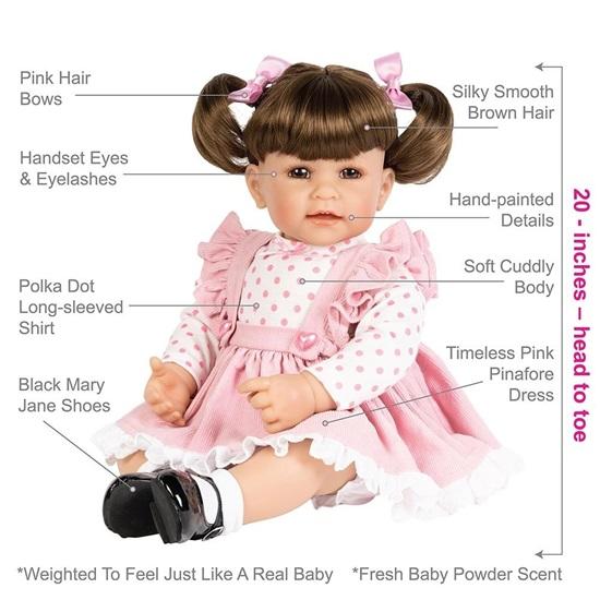"""Picture of Vintage - Adora 20"""" Cuddle Me Vinyl -Brn Hair, Brn Eyes"""