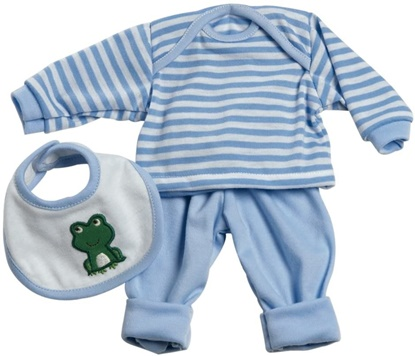 """Picture of 3-piece Blue-White Stripped outfit for 13"""" Doll"""