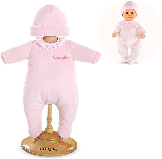 Picture of Pink one Piece PJ's for 12 Inch Baby Doll