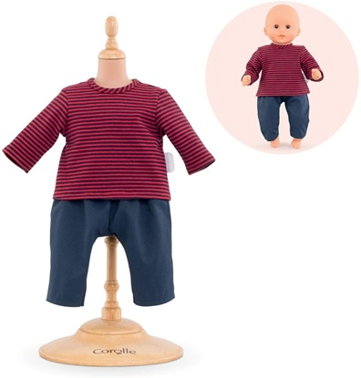 Picture of Striped T-Shirt and Pants for 12 Inch Baby Doll