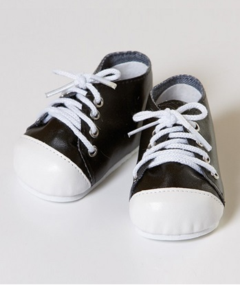 Picture of Black and  White Tennis Shoes