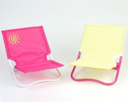 Picture of 2 Lounge Beach Chairs for 18 inch Dolls