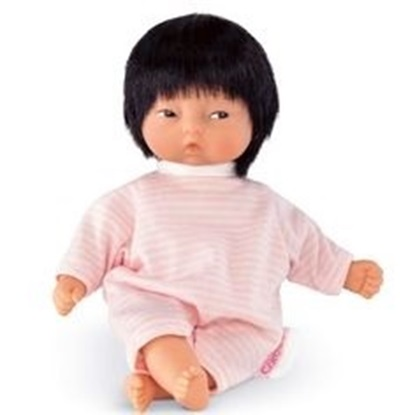 "Picture of Les Minis ""Calin Yang""  - Asian baby with pink and white outfit"