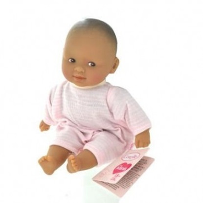 "Picture of Les Minis  ""Calin Maria"" - Hispanic  baby with pink and white outfit"