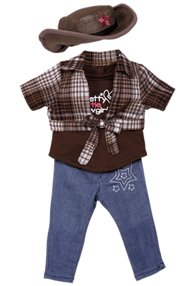 Picture of Isabellas Pretty Little Cowgirl Outfit for 18 inch Dolls