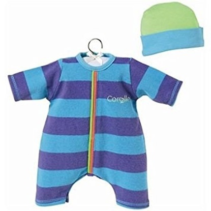 Picture of Blue Striped Set - Fits 14 inch baby dolls