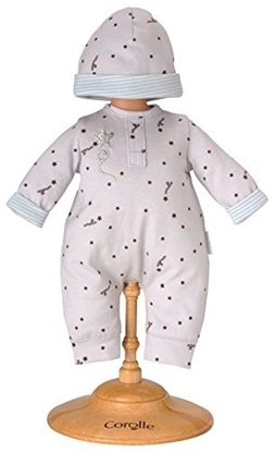 Picture of Grey Star Pajama Set - Fits 14 inch baby dolls